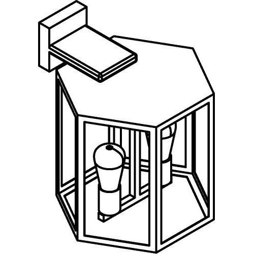 Drawing of W753.B/.. - POLO, opbouw wandlicht