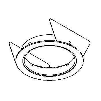 Drawing of ROUNDBASE.65/.. - Ø65 SYSTEM, inbouwbasis voor cassette - rond