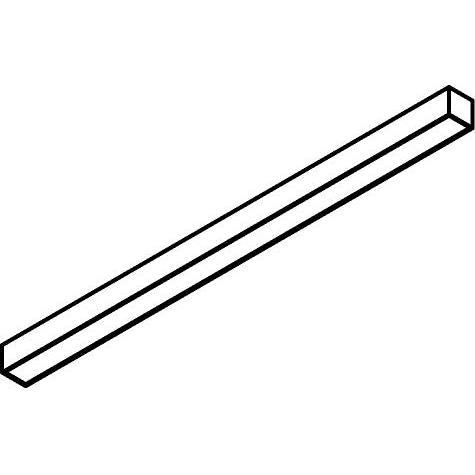 Drawing of 2925.1970/.. - TIMES LED 45X45 EX T, lichtsysteem - bevestiging rechtstreeks op plafond - driver los meegeleverd - met LED driver