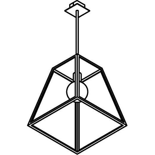 Drawing of W758.B3/.. - POLO, hanglamp met bolgewricht en opbouwdoos
