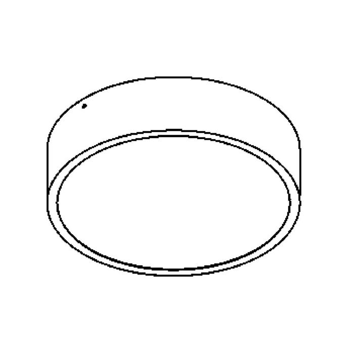 Drawing of 642.250.LED/.. - MONET ROND, opbouw plafondverlichting - polycarbonaat - met LED driver