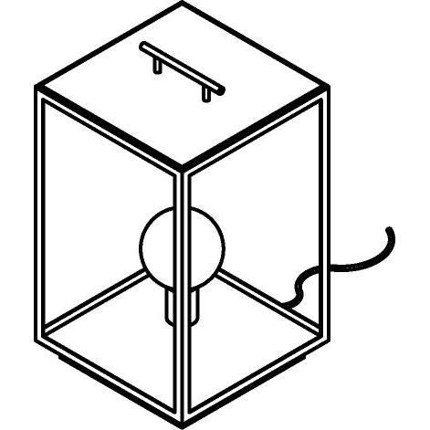 Drawing of W763/.. - POLO, tafellamp - met snoer en stekker