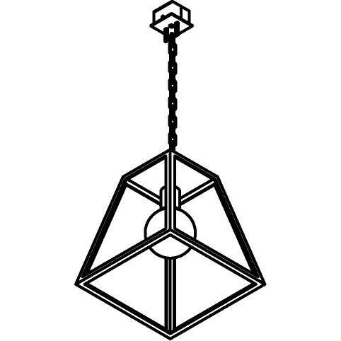 Drawing of W749.CH/.. - POLO, hanglamp met ketting en opbouwdoos
