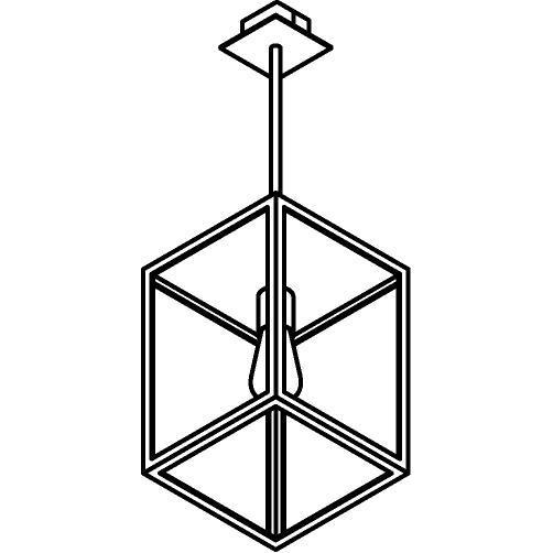 Drawing of W776.B3/.. - POLO, hanglamp met bolgewricht en opbouwdoos
