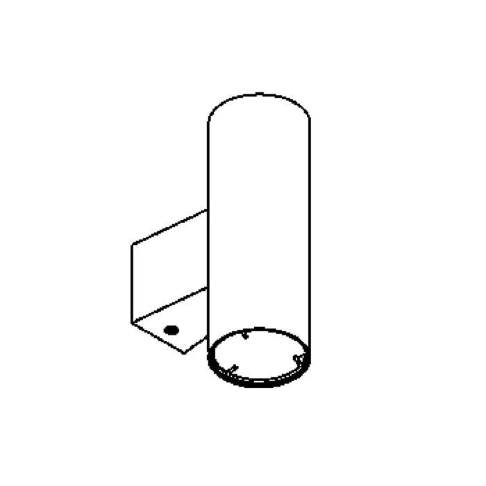 Drawing of W1060.ES50/.. - VITO, opbouw wandlicht - down