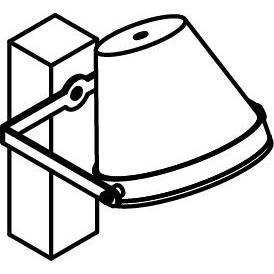 Drawing of W1227/.. - EXTER, opbouw wandlicht - richtbaar - down - met LED driver