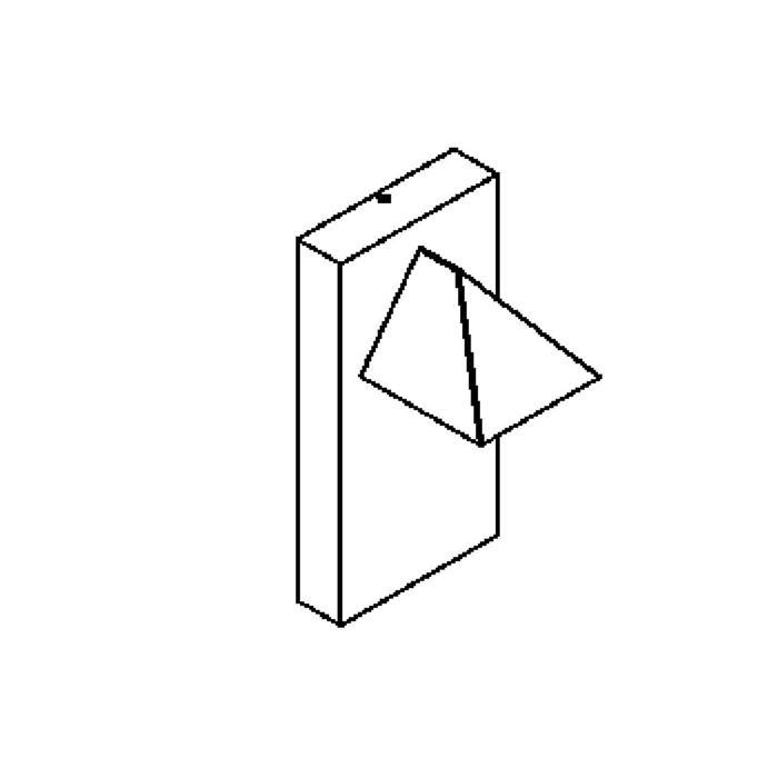 Drawing of W603.ES50/.. - LIPARA, opbouw wandlicht - vast - down