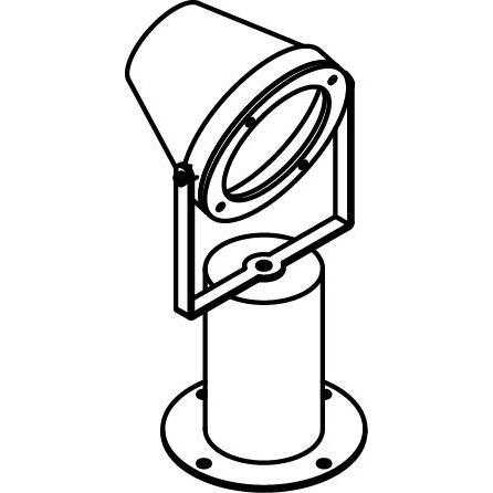 Drawing of T1224/.. - EXTER, tuinpaal - richtbaar - down - met LED driver