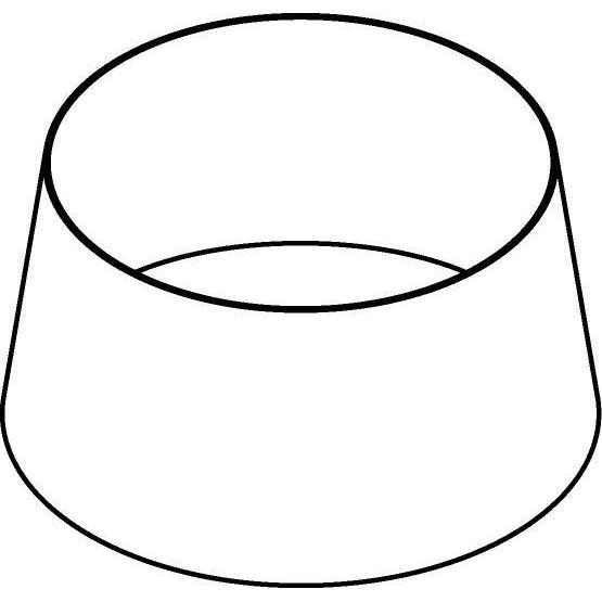 Drawing of HH403222_HL/.. - HH403222 KAP HALFHOOG HANGKAP, lampenkap