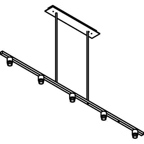 Drawing of 5015.5/.. - MAESTRO FOR SHADE, hanglamp met bolgewricht - stang inkortbaar