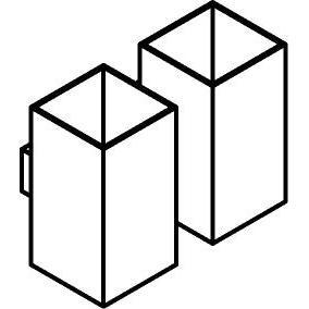 Drawing of 4034.2/.. - KOBUS, opbouw wandlicht - vast - down/up