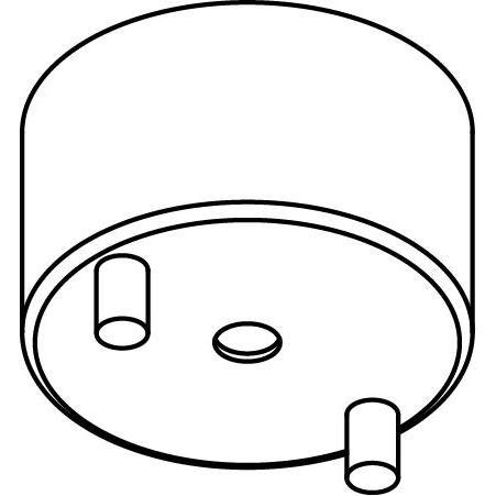 Drawing of 053/.. - OPHANGING VOOR PENDEL, opbouwbasis voor pendel - rond