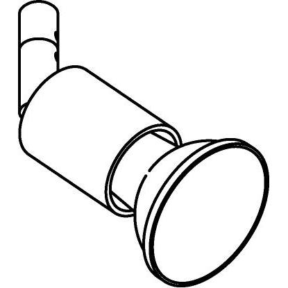 Drawing of 7700/.. - CAPA, opbouwspot M10 - rond - richtbaar - zonder ledlamp