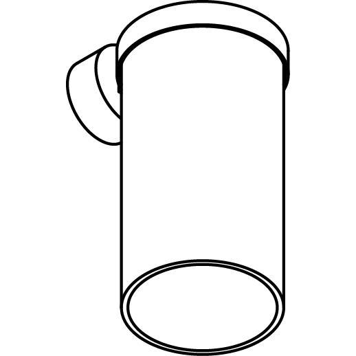 Drawing of W780/.. - POLINA, opbouw wandlicht - glas H250
