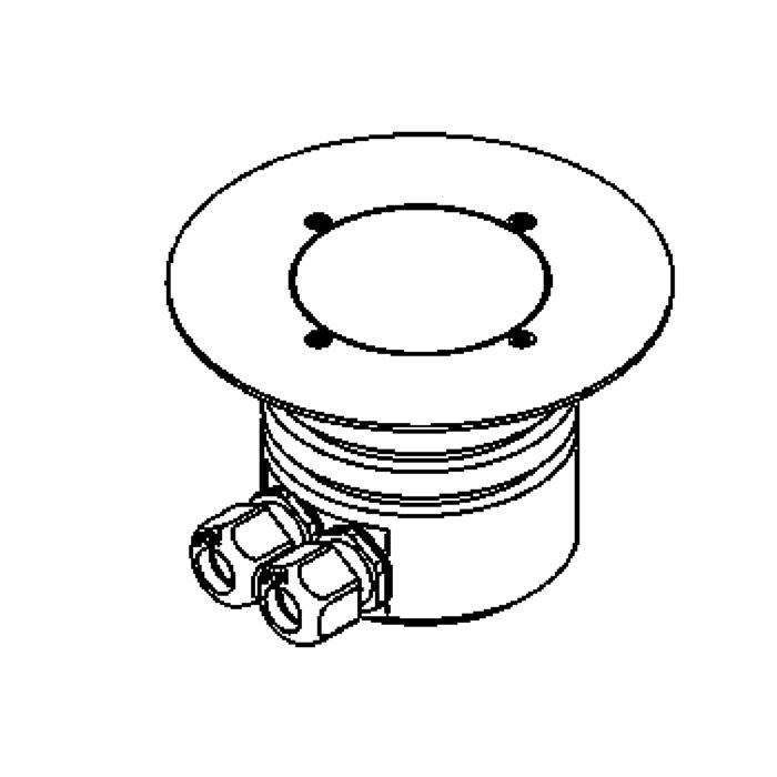 Drawing of 1161.160.A/.. - LAVA, vloerspot met afdekkader op de bevloering - vast - LED 230V