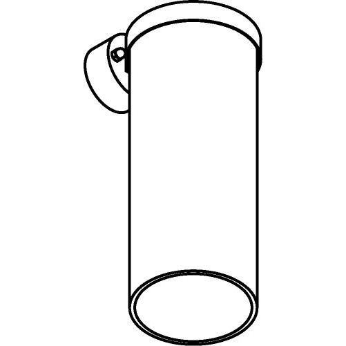 Drawing of W781/.. - POLINA, opbouw wandlicht - glas H320