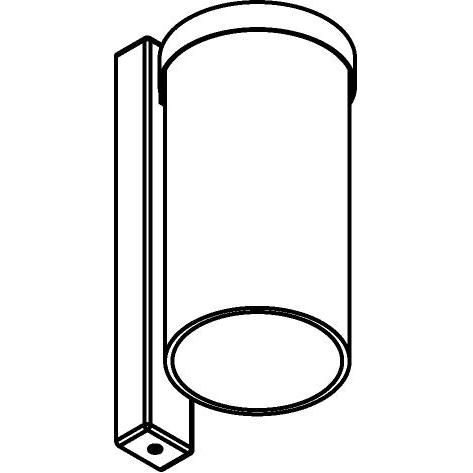 Drawing of W782/.. - POLINA, opbouw wandlicht - glas H250