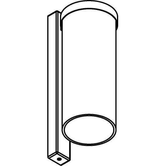Drawing of W783/.. - POLINA, opbouw wandlicht - glas H320