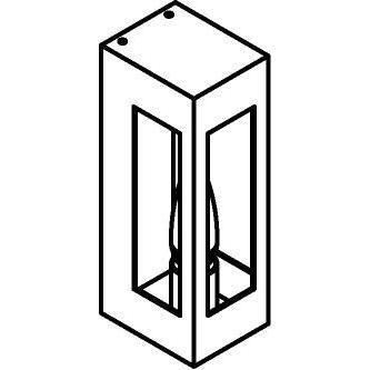 Drawing of W731.B/.. - POLO, opbouw wandlicht