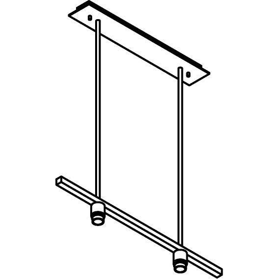 Drawing of 5015.2/.. - MAESTRO FOR SHADE, hanglamp met bolgewricht - stang inkortbaar