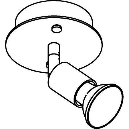 Drawing of 4501/.. - CAPUCINE, opbouw plafondverlichting - richtbaar - met basis Rondobox