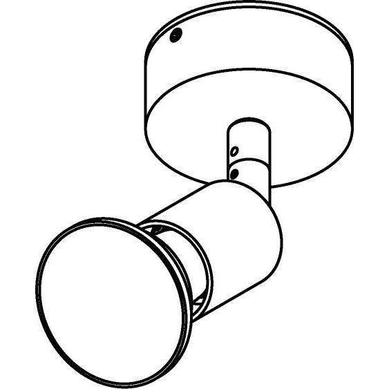 Drawing of 4500/.. - CAPUCINE, opbouw plafondverlichting - richtbaar - met basis 005