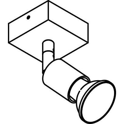 Drawing of 4510/.. - CAPUCINE, opbouw plafondverlichting - richtbaar - met basis 025
