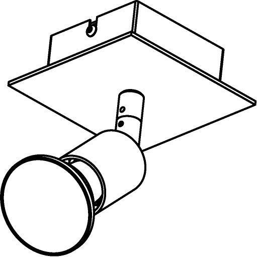 Drawing of 4511/.. - CAPUCINE, opbouw plafondverlichting - richtbaar - met basis Texo