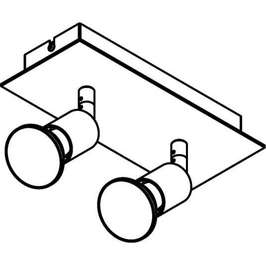 Drawing of 4512/.. - CAPUCINE, opbouw plafondverlichting - richtbaar - met basis Texo