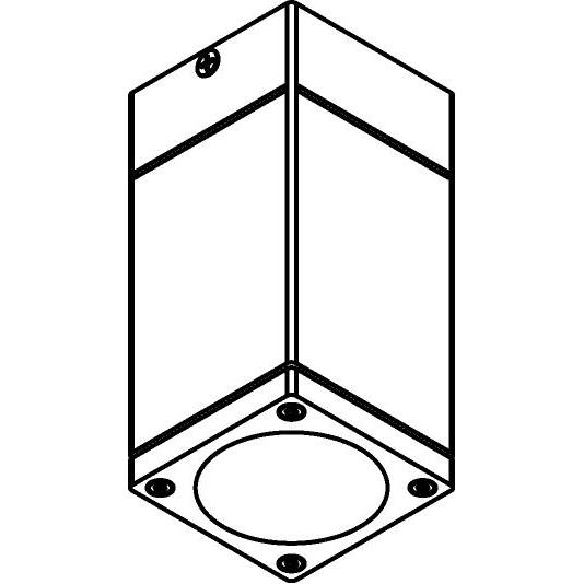 Drawing of W719/.. - MAURO, plafondverlichting - vierkant - down