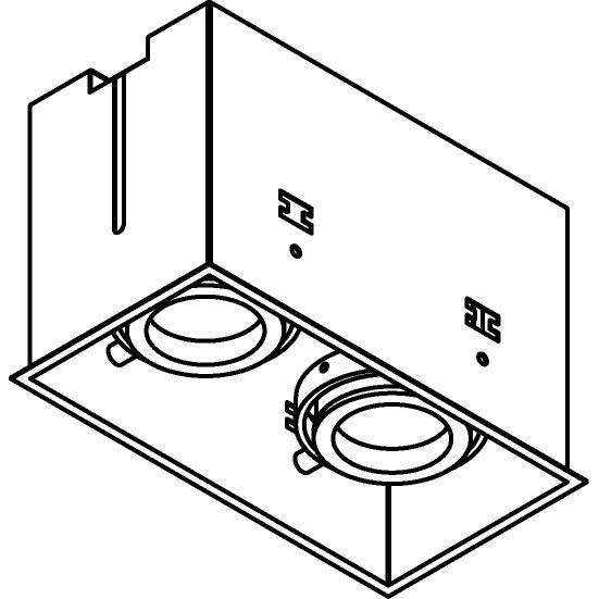 Drawing of 1882DS.ES50/.. - SPINNER X DS, inbouw plafondverlichting - vierkant - richtbaar