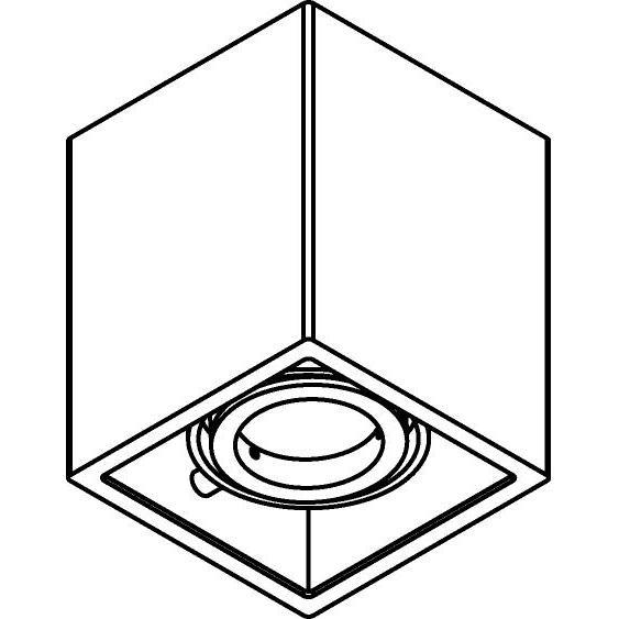 Drawing of 1885DS.ES50/.. - SPINNER X DS, opbouw plafondverlichting - richtbaar - down