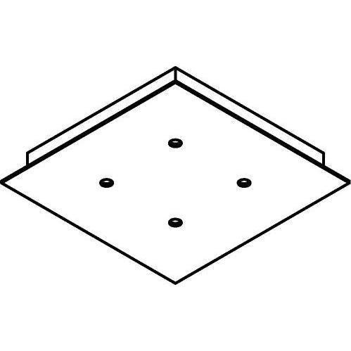 Drawing of 655/.. - TEXO, plafondverlichting - geen plaats voor transfo - vierkante basis