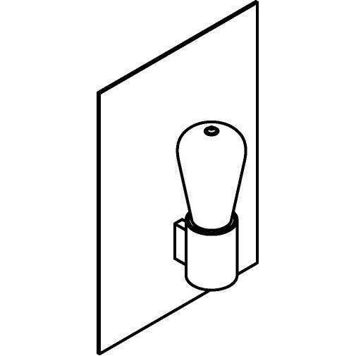 Drawing of 5111.R/.. - ONTARIO, opbouw wandlicht - met frontplaat en ronde lamphouder