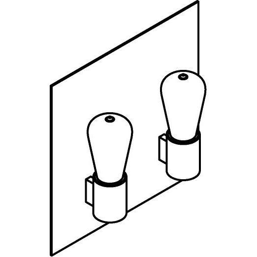 Drawing of 5112.R/.. - ONTARIO, opbouw wandlicht - met frontplaat en ronde lamphouder