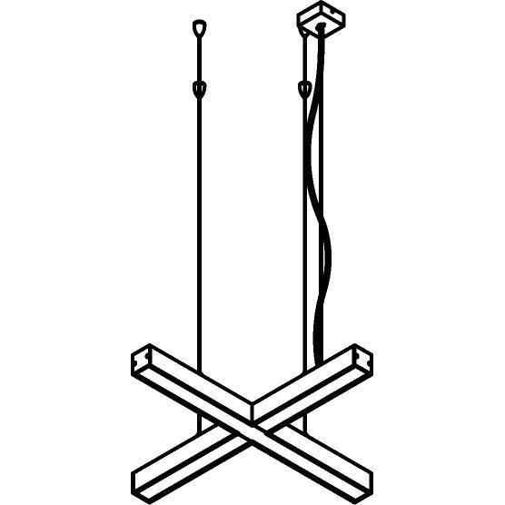 Drawing of 2986/.. - TIMES CROSS, lichtsysteem - met ophanging - wordt op maat gemaakt - met LED driver