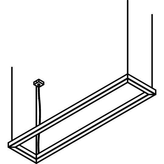 Drawing of 2988/.. - TIMES KADER, lichtsysteem - met ophanging - wordt op maat gemaakt - met LED driver