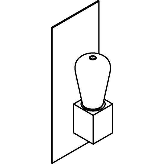 Drawing of 5110.S/.. - ONTARIO, opbouw wandlicht - met frontplaat en vierkante lamphouder