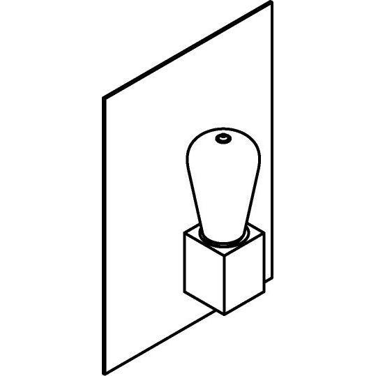 Drawing of 5111.S/.. - ONTARIO, opbouw wandlicht - met frontplaat en vierkante lamphouder