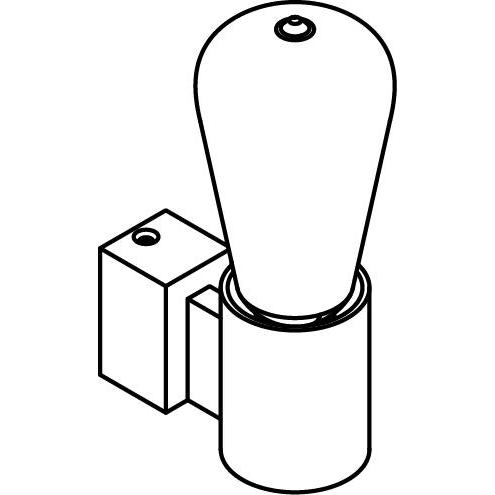 Drawing of 5113.R/.. - ONTARIO, opbouw wandlicht - zonder frontplaat - met ronde lamphouder