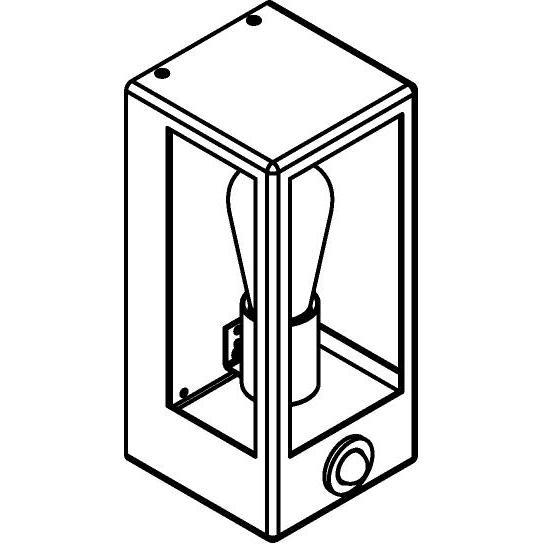Drawing of W733.S/.. - POLO, opbouw wandlicht - met ingebouwde sensor