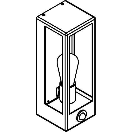 Drawing of W734.S/.. - POLO, opbouw wandlicht - met ingebouwde sensor