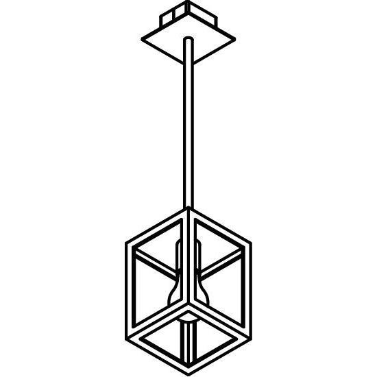 Drawing of W775.B.B3/.. - POLO, hanglamp met bolgewricht en opbouwdoos