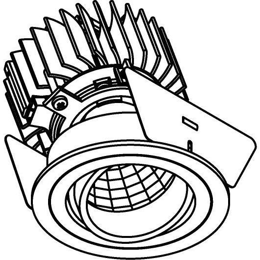 Drawing of 888.10018/.. - CITY, inbouwspot - rond - richtbaar - dimbaar fase aan- en afsnijding - kit (led 230V + reflector + spot)