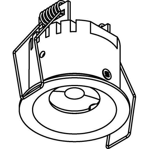 Drawing of ZIALEDF230V.S1/.. - Ø45 ZIA LED 230V, inbouw plafond- en wandlicht - rond - vast - met led