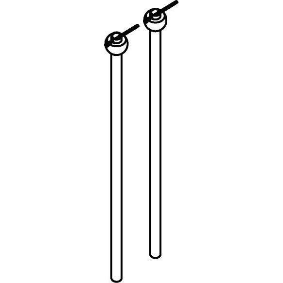 Drawing of SETL400/.. - TAVOLO SET TIGE L400, supplément - set de 2 tiges