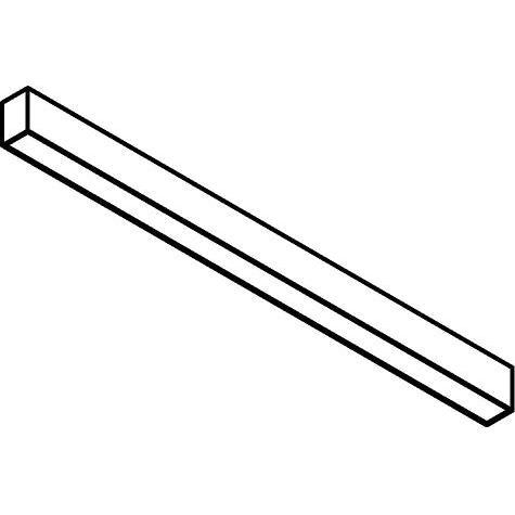 Drawing of 2980.1500/.. - TIMES T5-60X85, lichtsysteem - bevestiging rechtstreeks op plafond - met electronische ballast