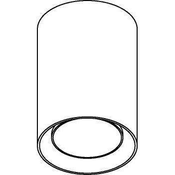 Drawing of 1837B/.. - MERO ES50, opbouw plafondverlichting - vast - cilinder