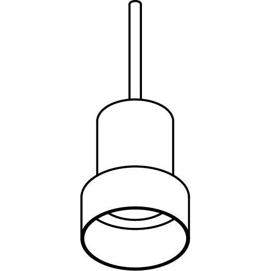 Drawing of 5052/.. - TONDO, hanglamp met bolgewricht - stang inkortbaar