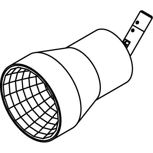 Drawing of 7536/.. - TONDO XICATO, opbouwspot LED M10 - rond - richtbaar - down - zonder LED driver